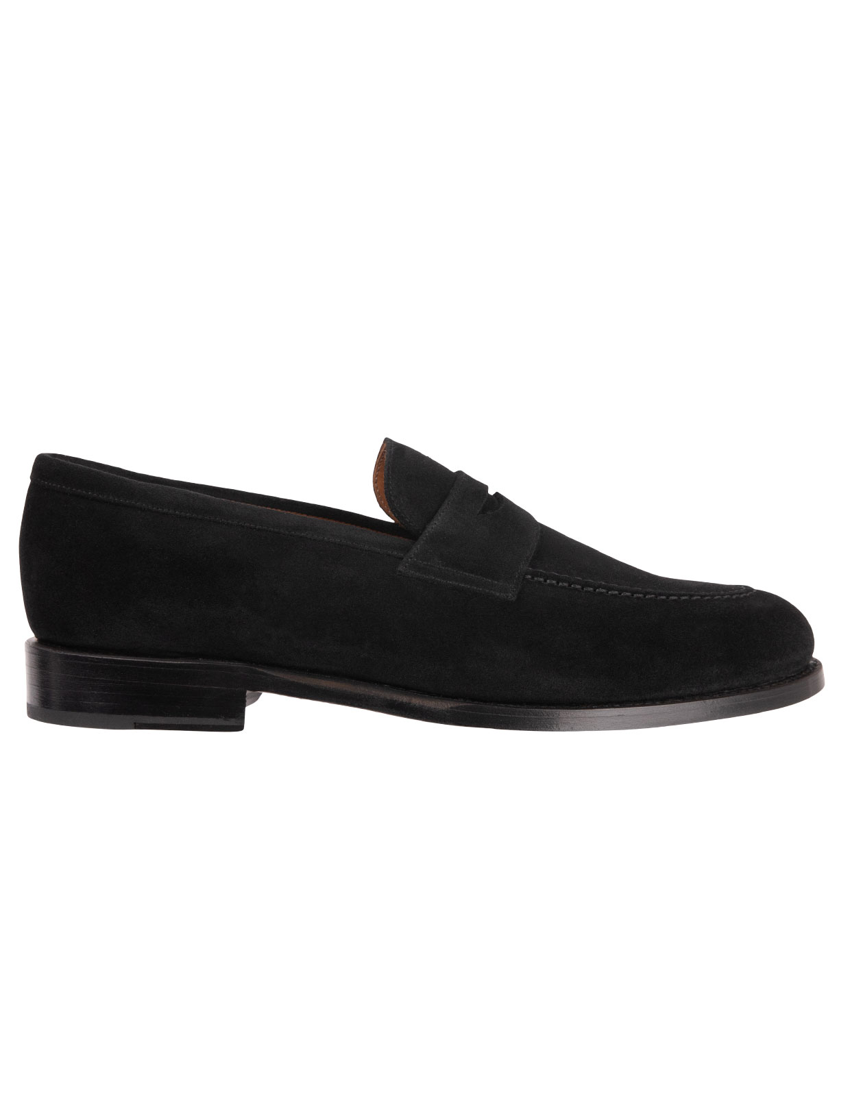 Penny Loafers Suede Black