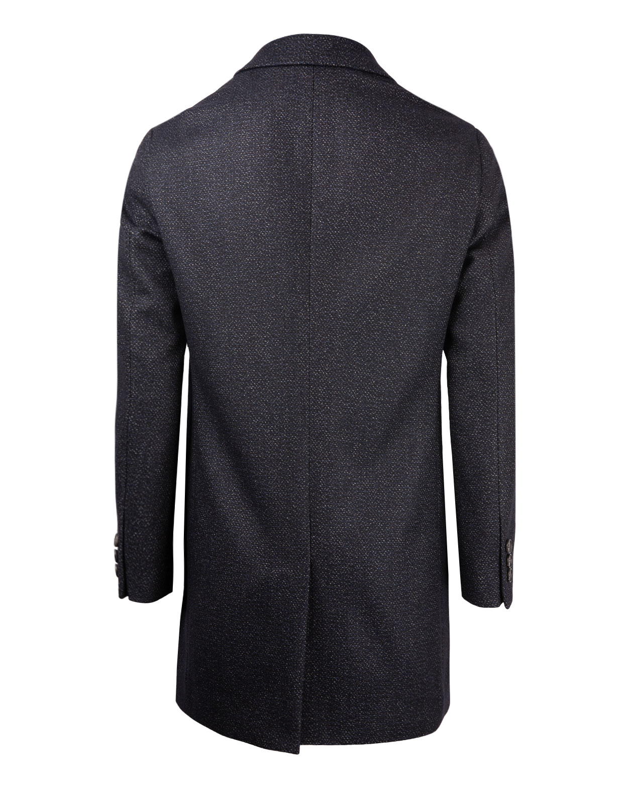Nadim Wool Blend Coat Detachable Bib DarkBlue