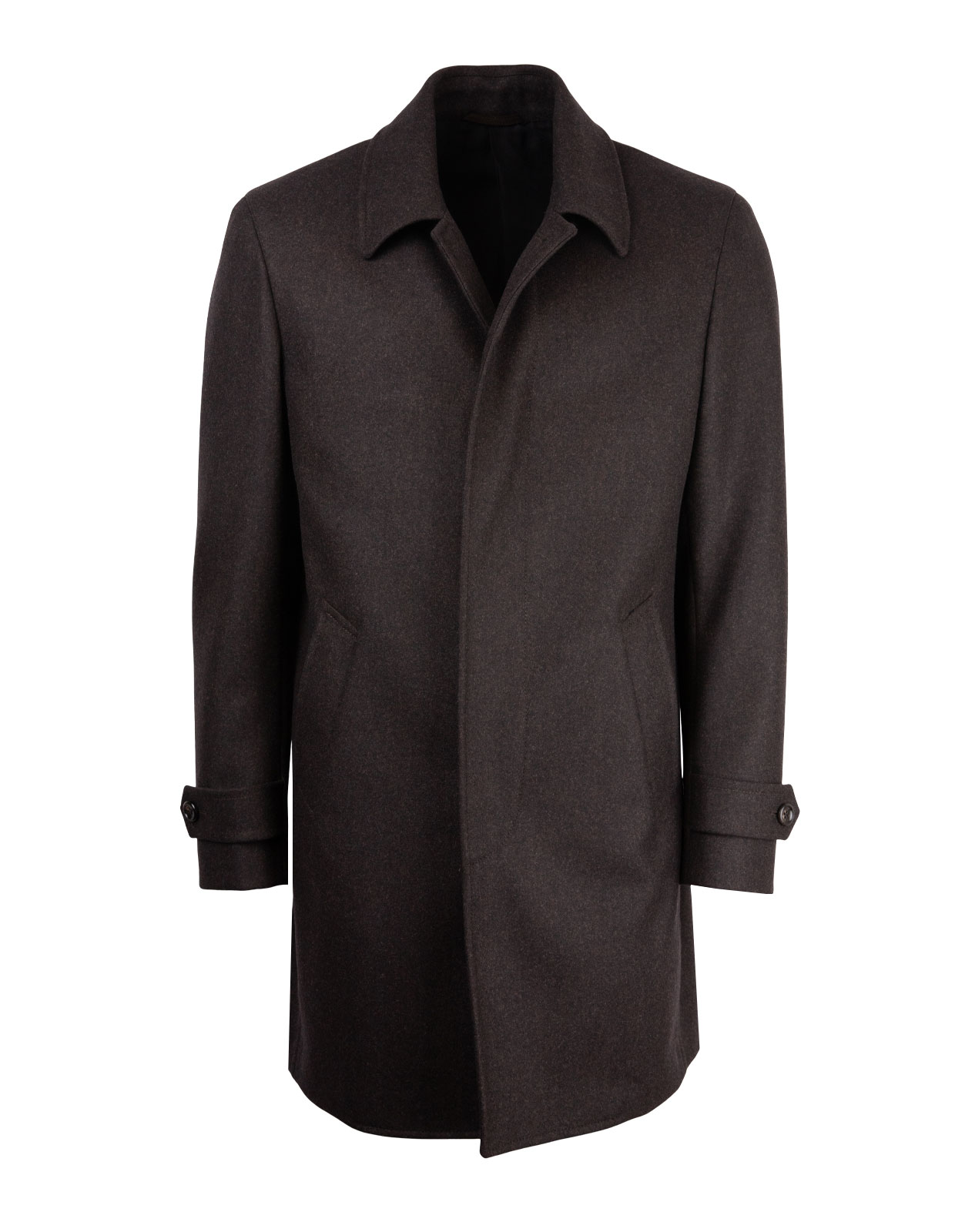 Coat 7387 Vitale Barberis Canonico Vintage DarkBrownMel