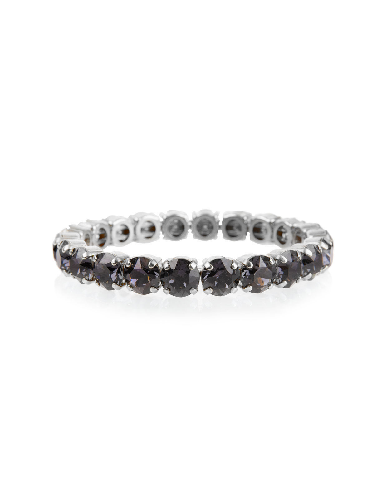 GIA stretch Bracelet Rodium GRAPHITE