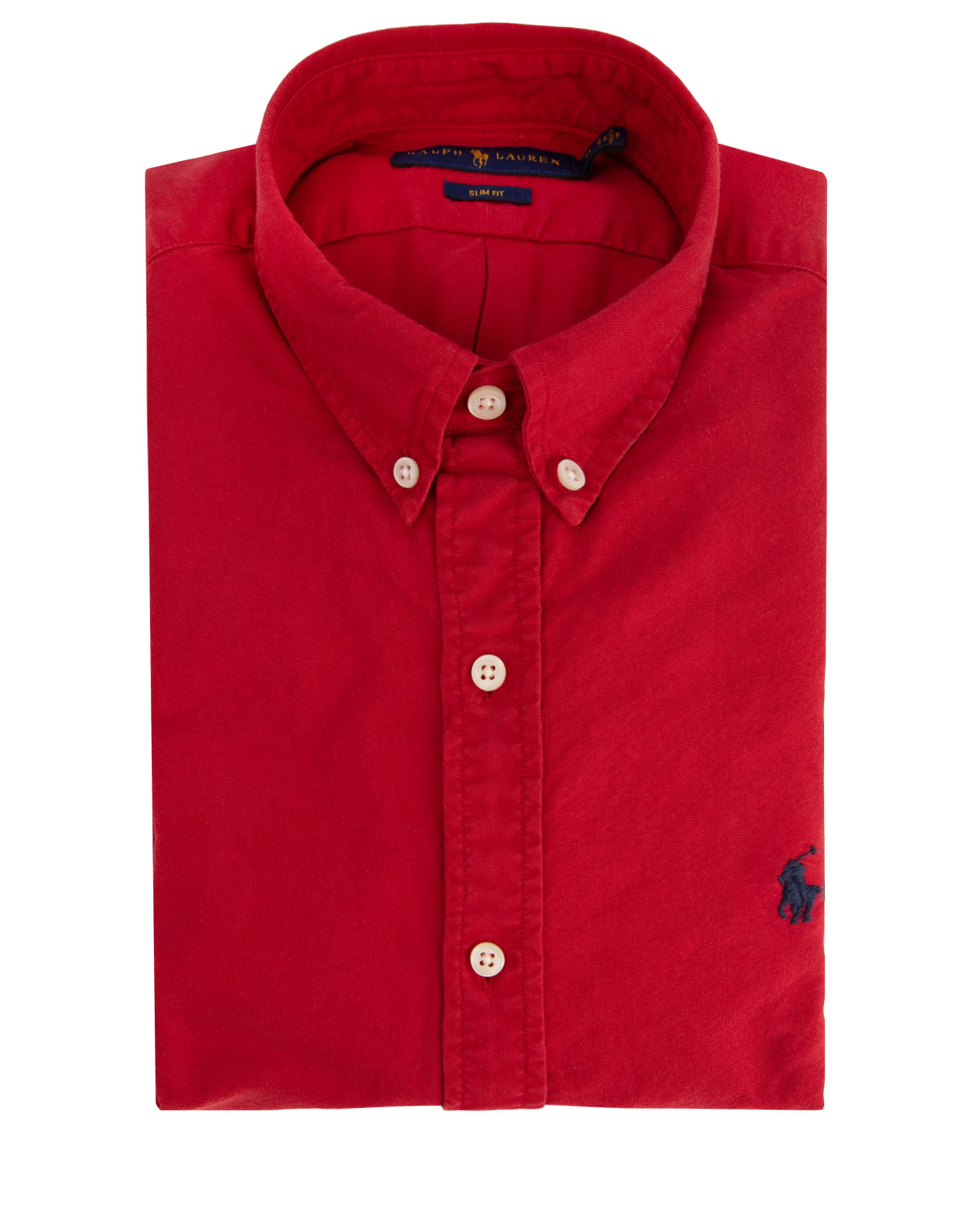 Slim Fit Oxford Shirt Red