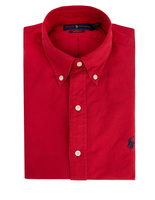 Custom Fit Oxford Shirt Red