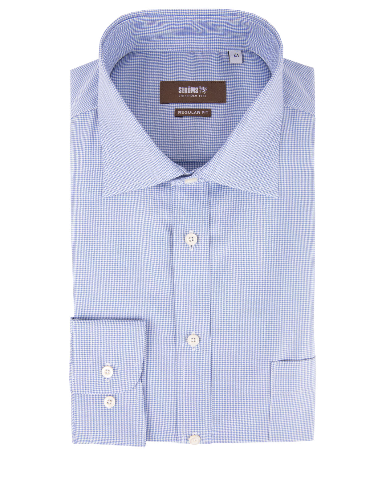 Regular Fit Cotton Shirt Pepita Check Blue