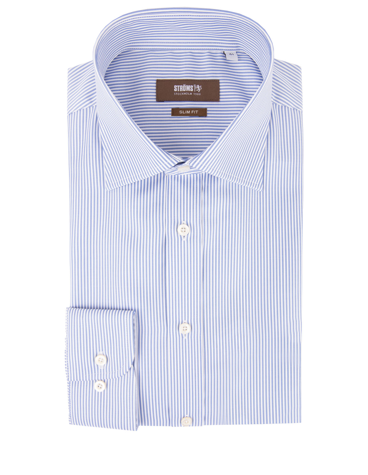 Slim Fit Cotton Shirt Stripe Blue/White