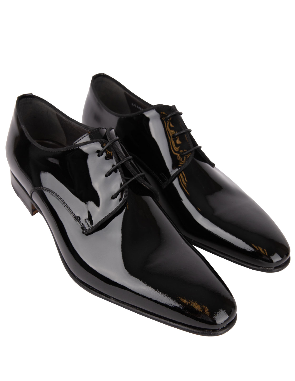 Linz Patent Leather Derby Shoes Black