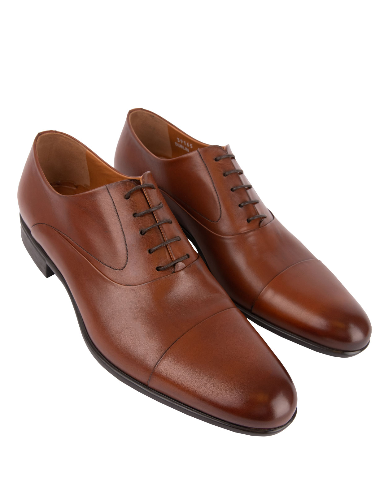 Dublin Oxford Shoe Calfskin With  Rubber Sole Tan