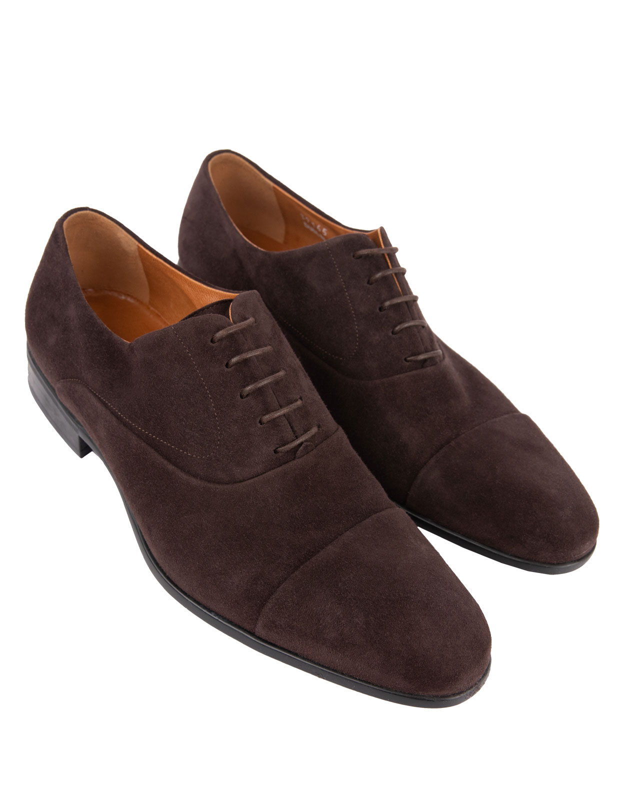 Dublin Oxford Shoes Suede Leather Rubber Sole DarkBrown