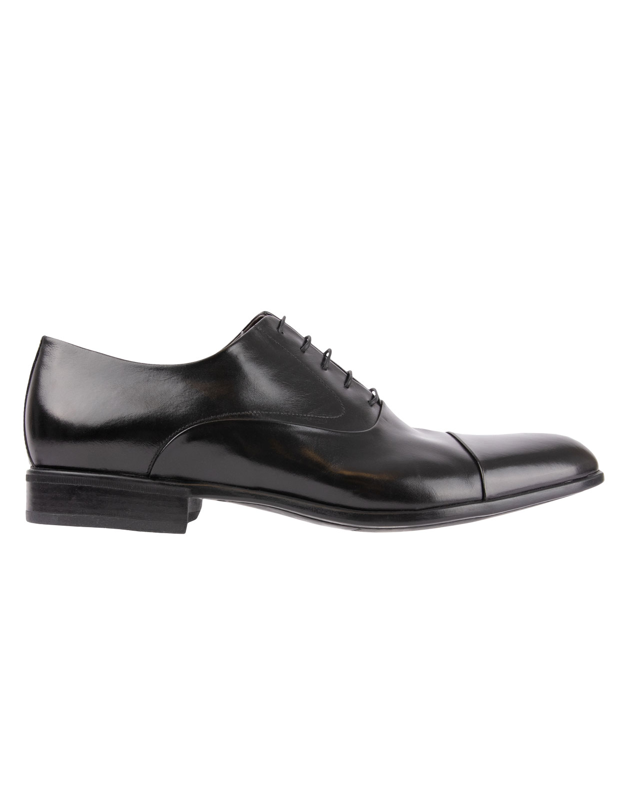 Dublin Oxford Shoe Calfskin With  Rubber Sole Black Stl 9
