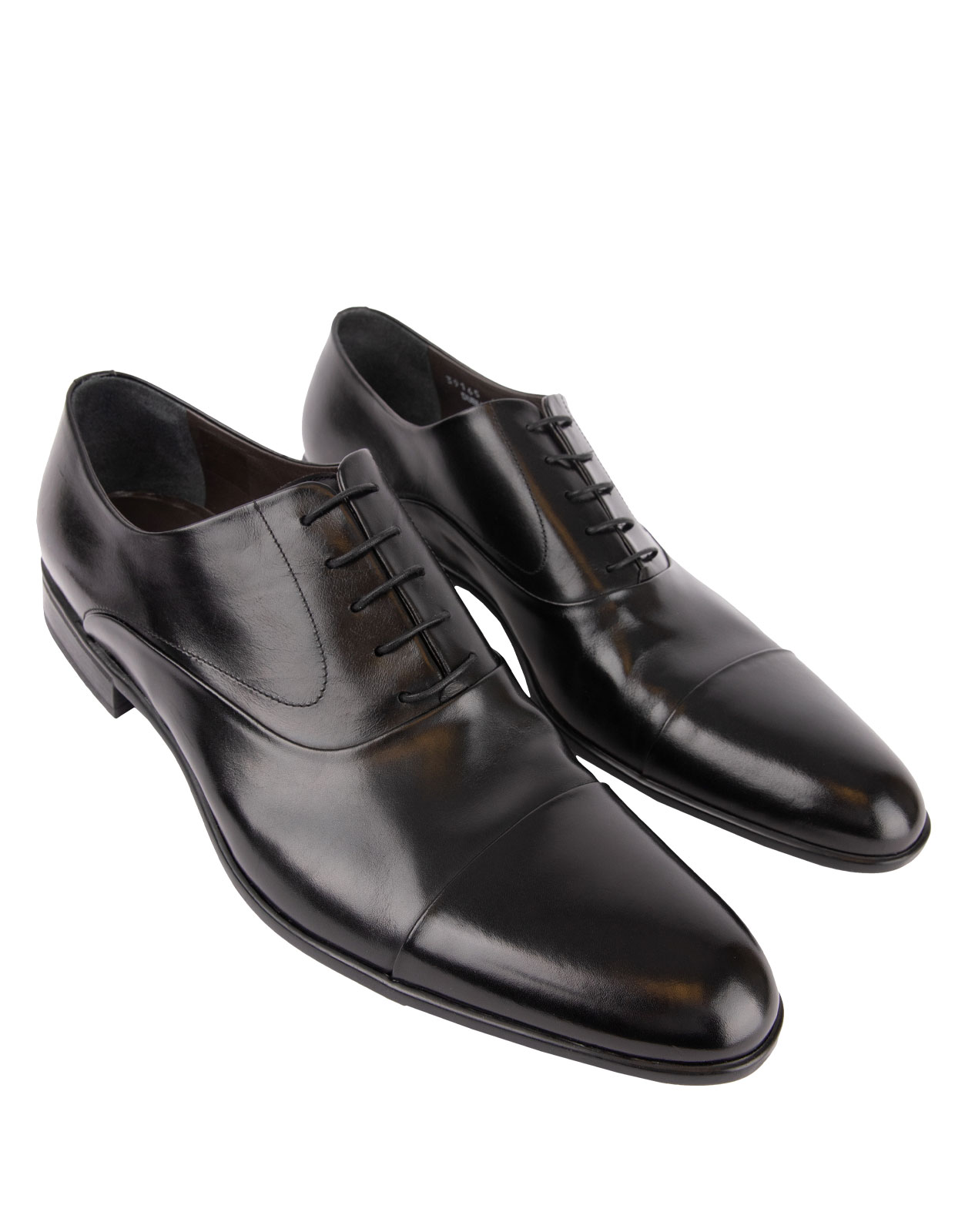 Dublin Oxford Shoe Calfskin With  Rubber Sole Black