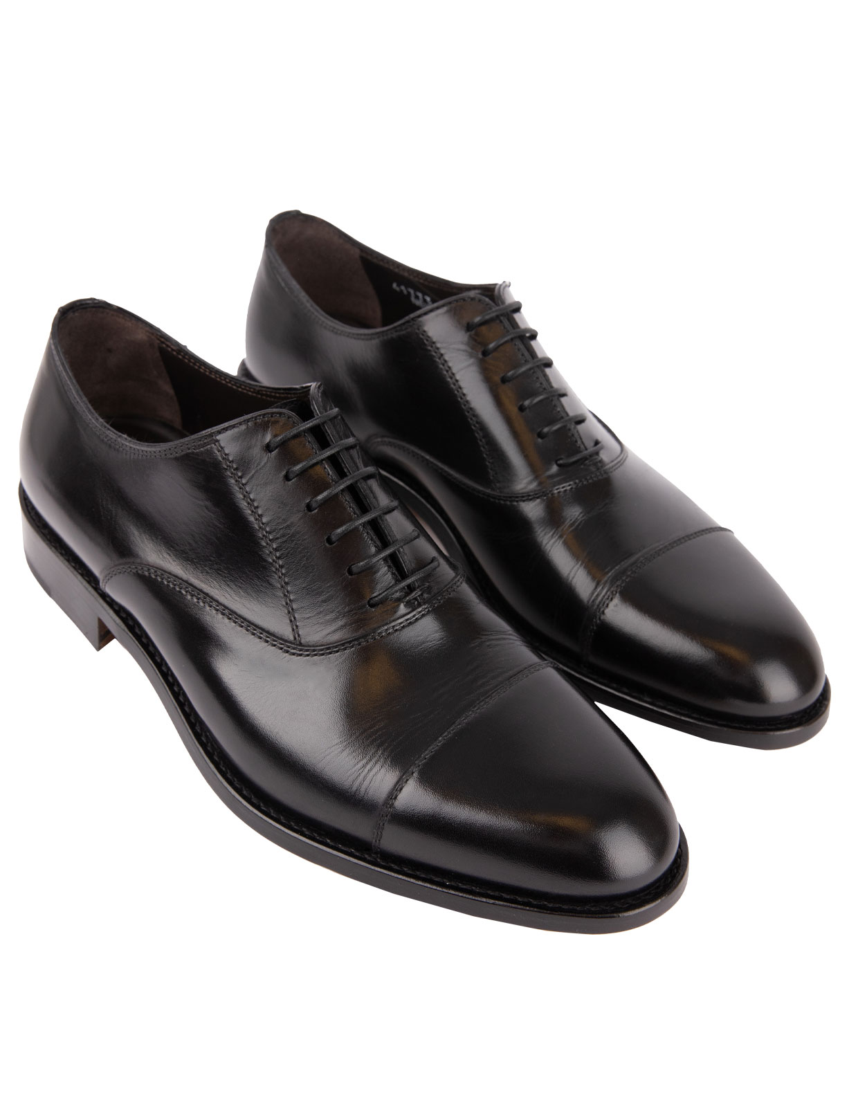 New York Oxford Shoes Calfskin Black
