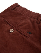 Milano Slim Chinos Manchester Stretch Rust
