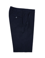 Milano Slim Chinos Bomull Stretch Mikromönster Navy