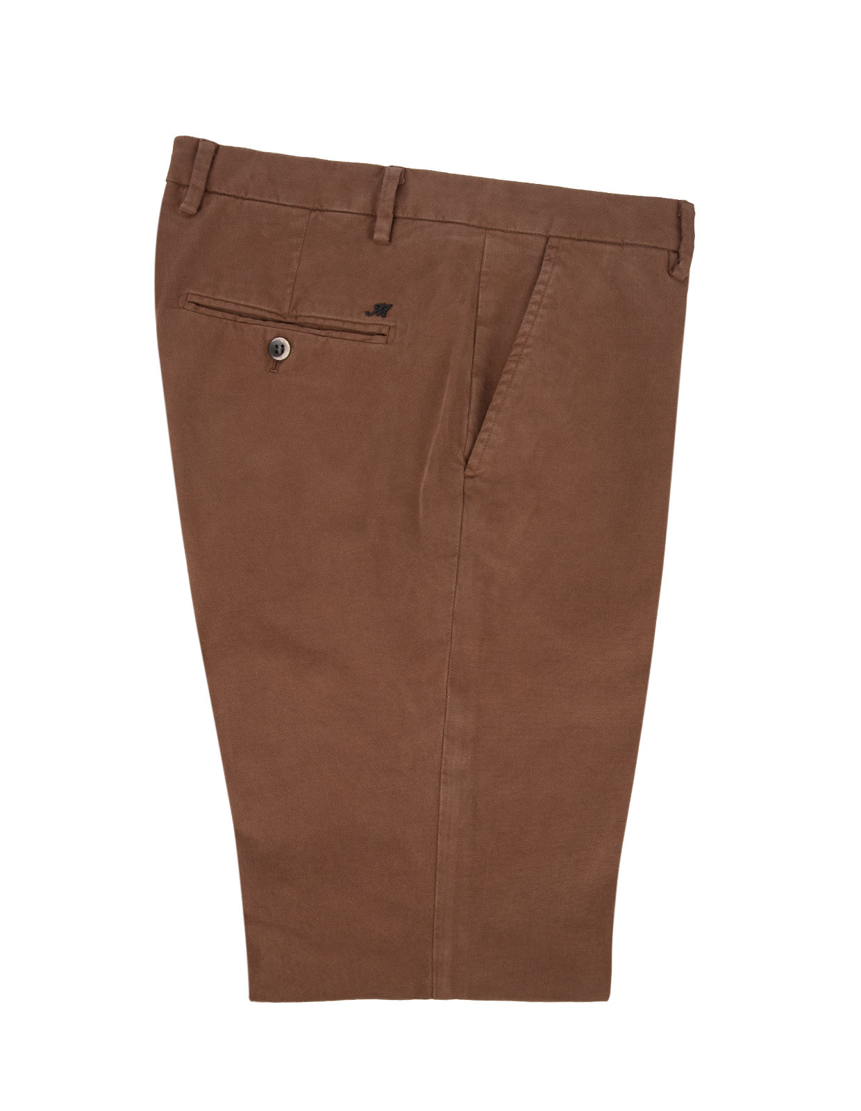 Milano Slim Chinos Bomull Stretch Rust