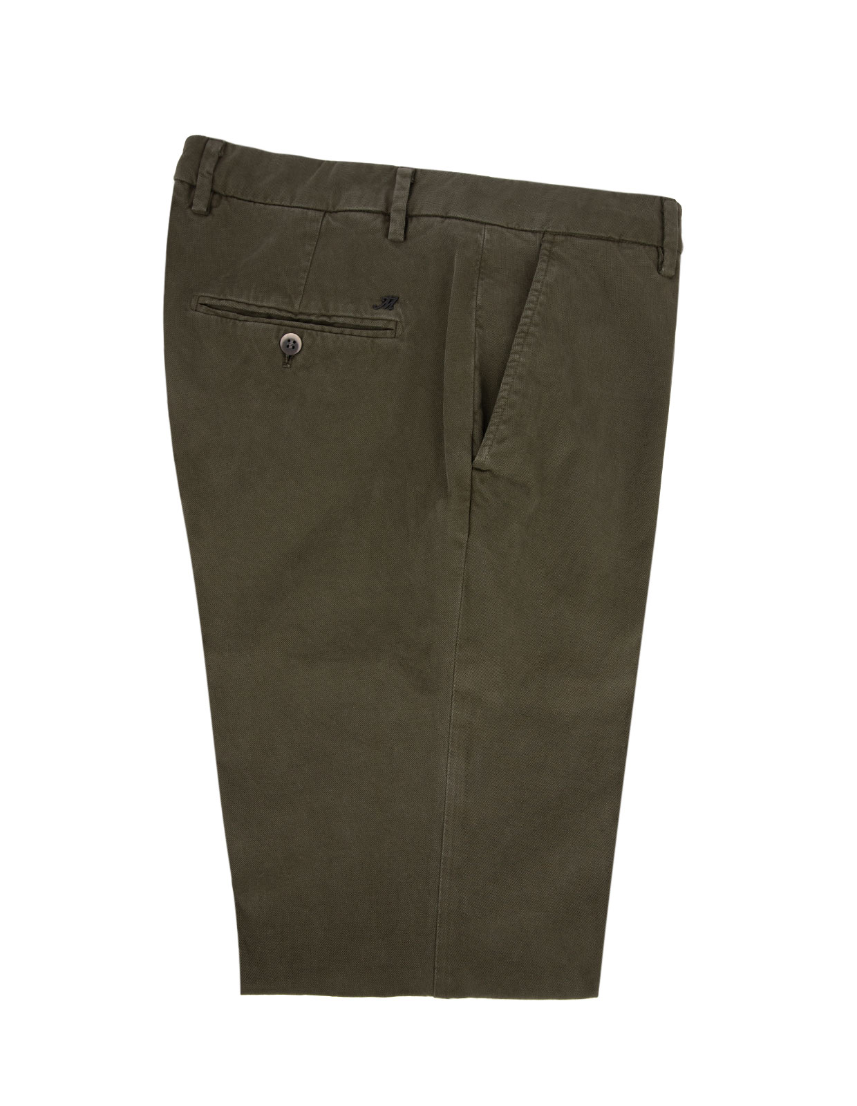 Milano Slim Chinos Bomull Stretch Olive