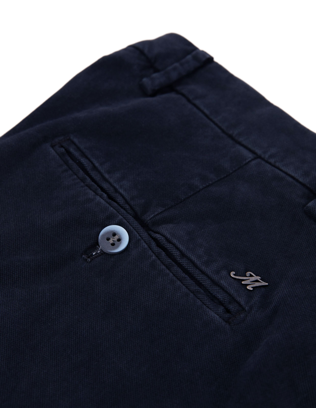 Milano Slim Chinos Bomull Stretch Navy