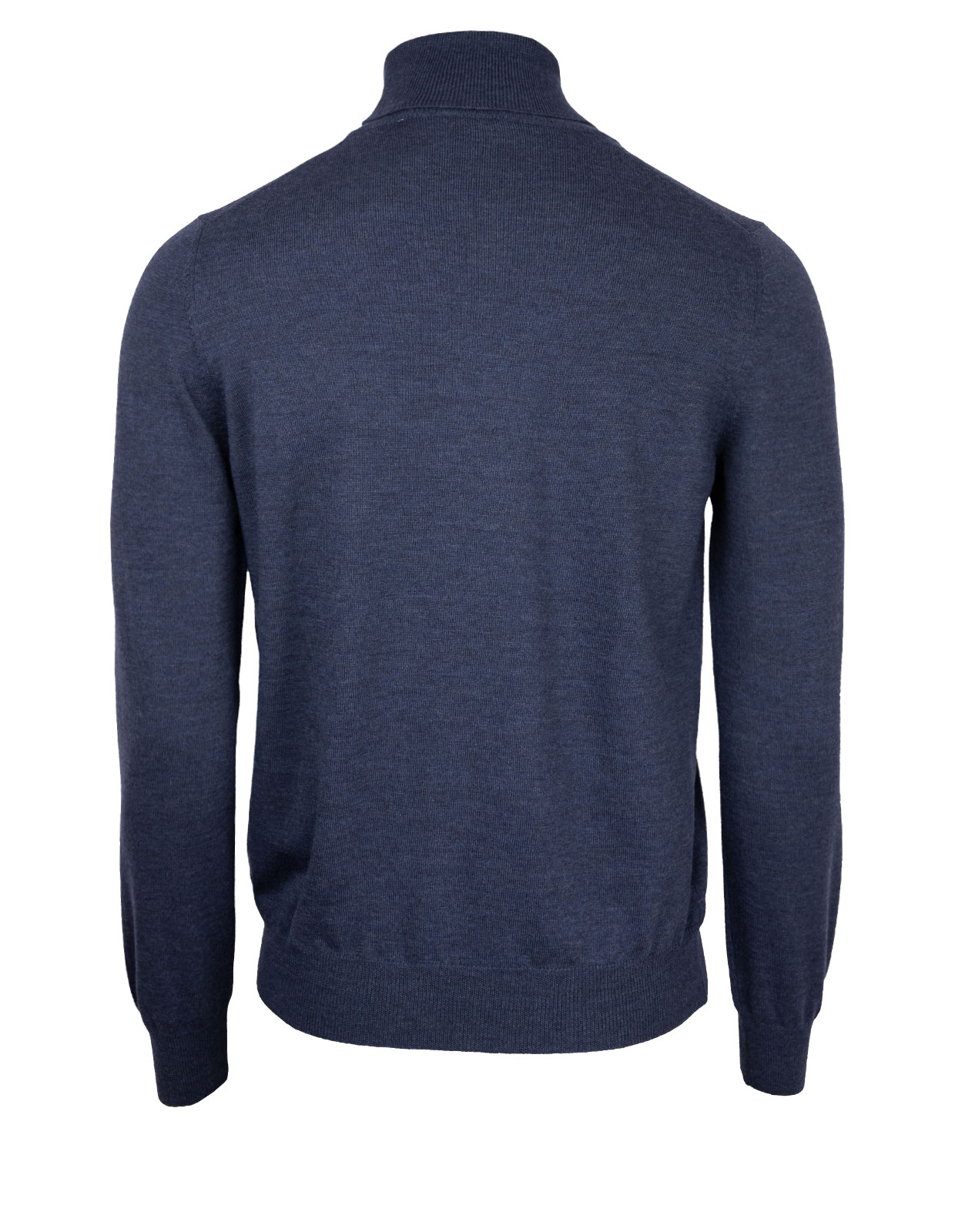Roll Neck Fashion Fit Extra Fine Merino Denim