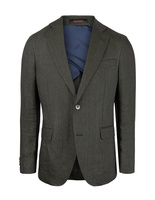 Ferry Regular Linen Jacket Mix & Match Green