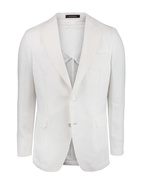 Ferry Regular Linen Jacket Mix & Match White Stl 148