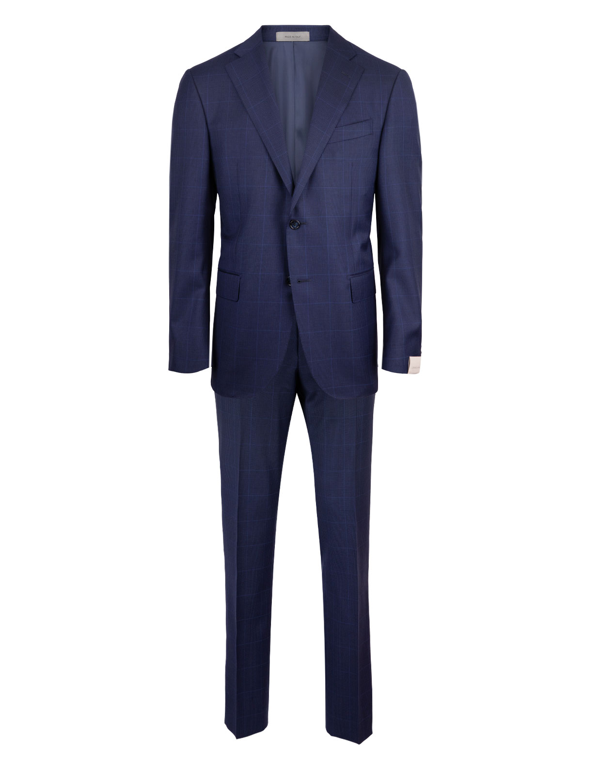 Leader 7268 Wool Suit Blue Check