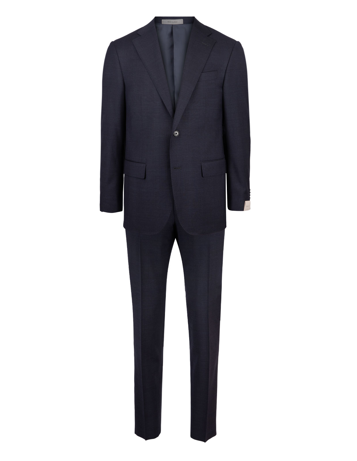 Leader 7268 Wool Suit Dark Blue Check