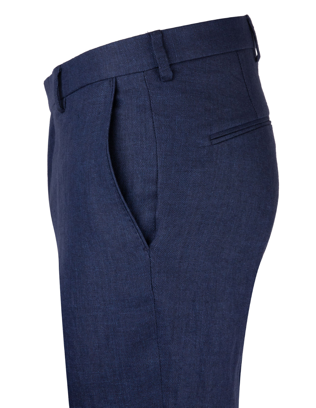 Diego Regular Linen Trouser Mix & Match Navy Stl 148