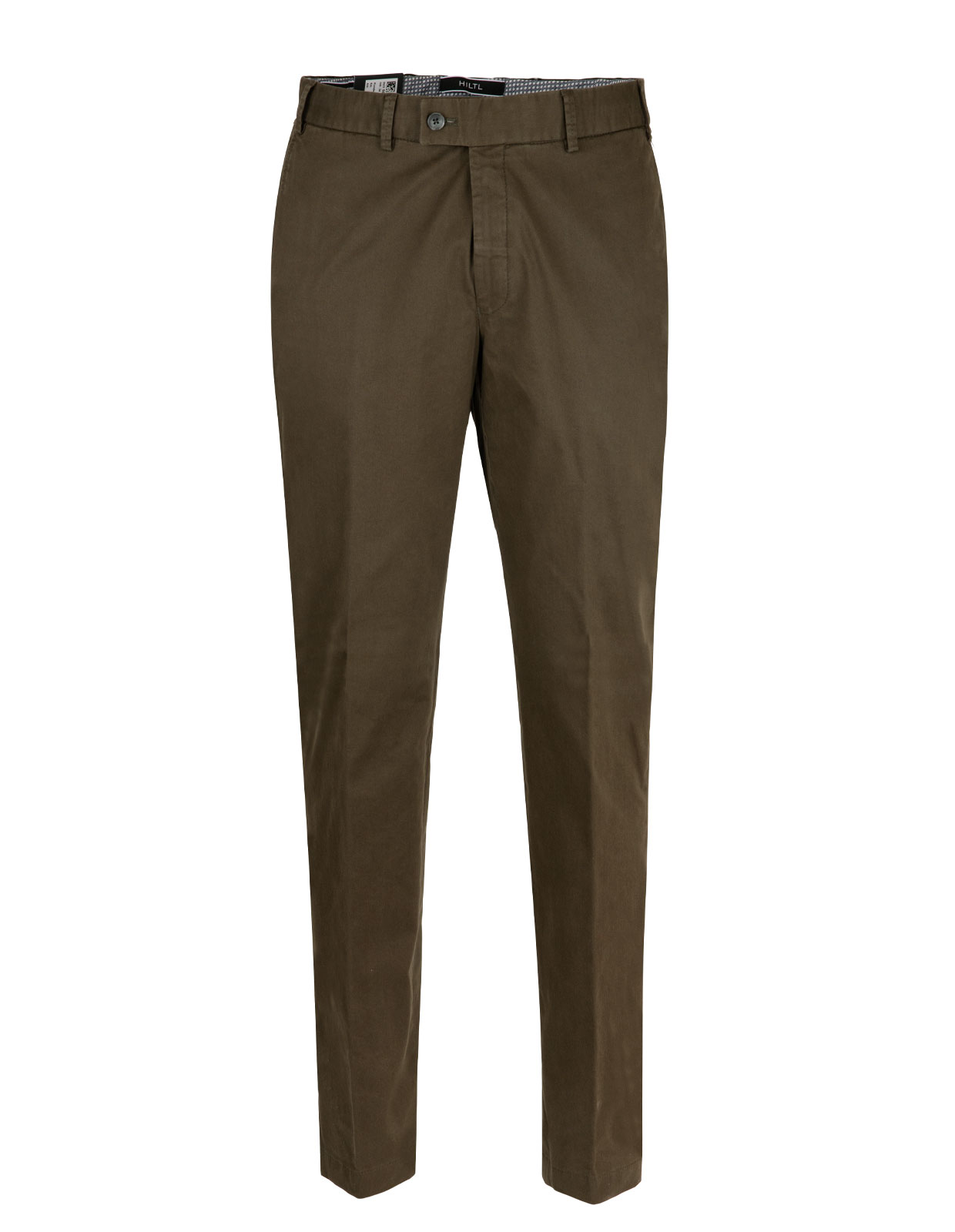 Parma Regular Fit Byxa Cotton Twill Olive