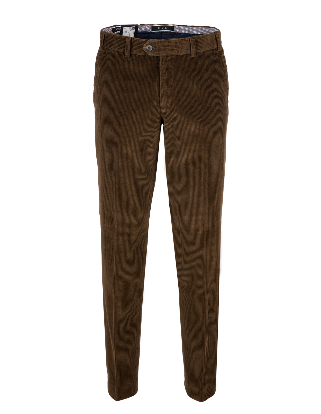 Parma Regular Fit Manchesterbyxa Genua Cord Brown