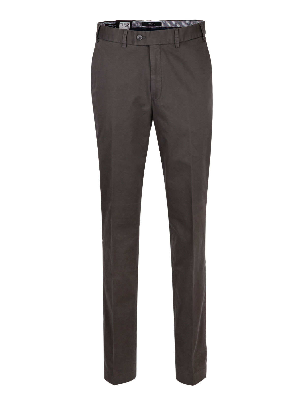 Parma Regular Fit Byxa Cotton Twill DkGrey