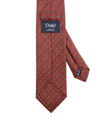 Classic Patterned Handmade Silk Tie Rust