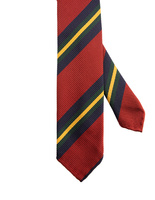 Striped Handmade Untipped Silk Tie RedBlueYellow