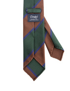 Striped Handmade Untipped Silk Tie GreenBrownBlue