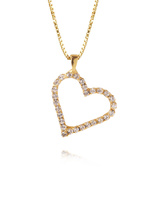 Sweetheart Necklace Gold/Crystal