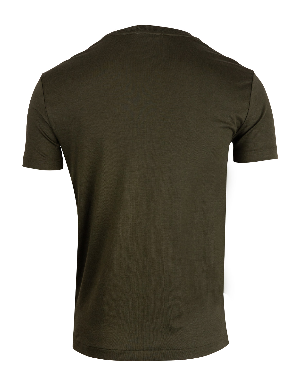 Luxury Pima Cotton Crew Neck Tee EstateOlive