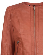 Paula Leather Jacket Roibos Red