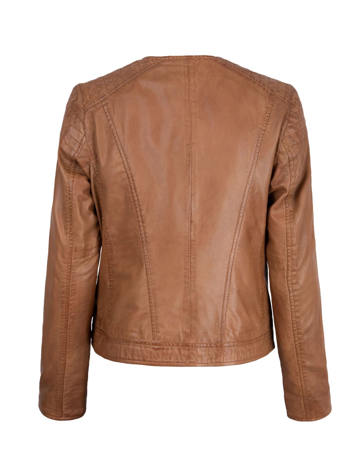 Paula Leather Jacket Cognac