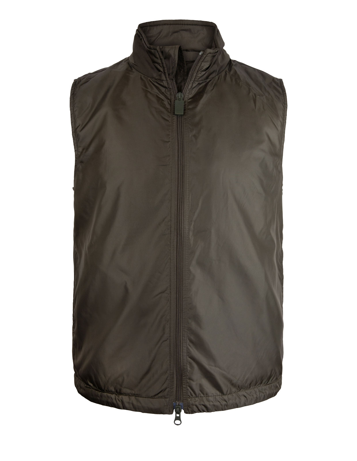 Lightweight Nylon Gilet With Thermore Wadding ArmyGreen