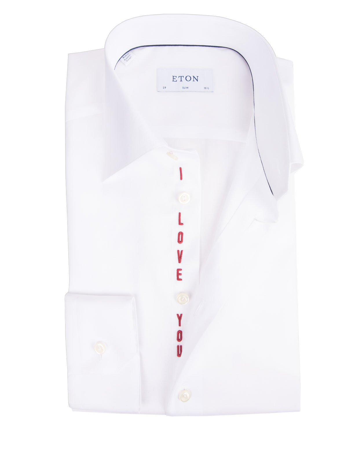 Slim Fit Signature Twill I Love You Edition White