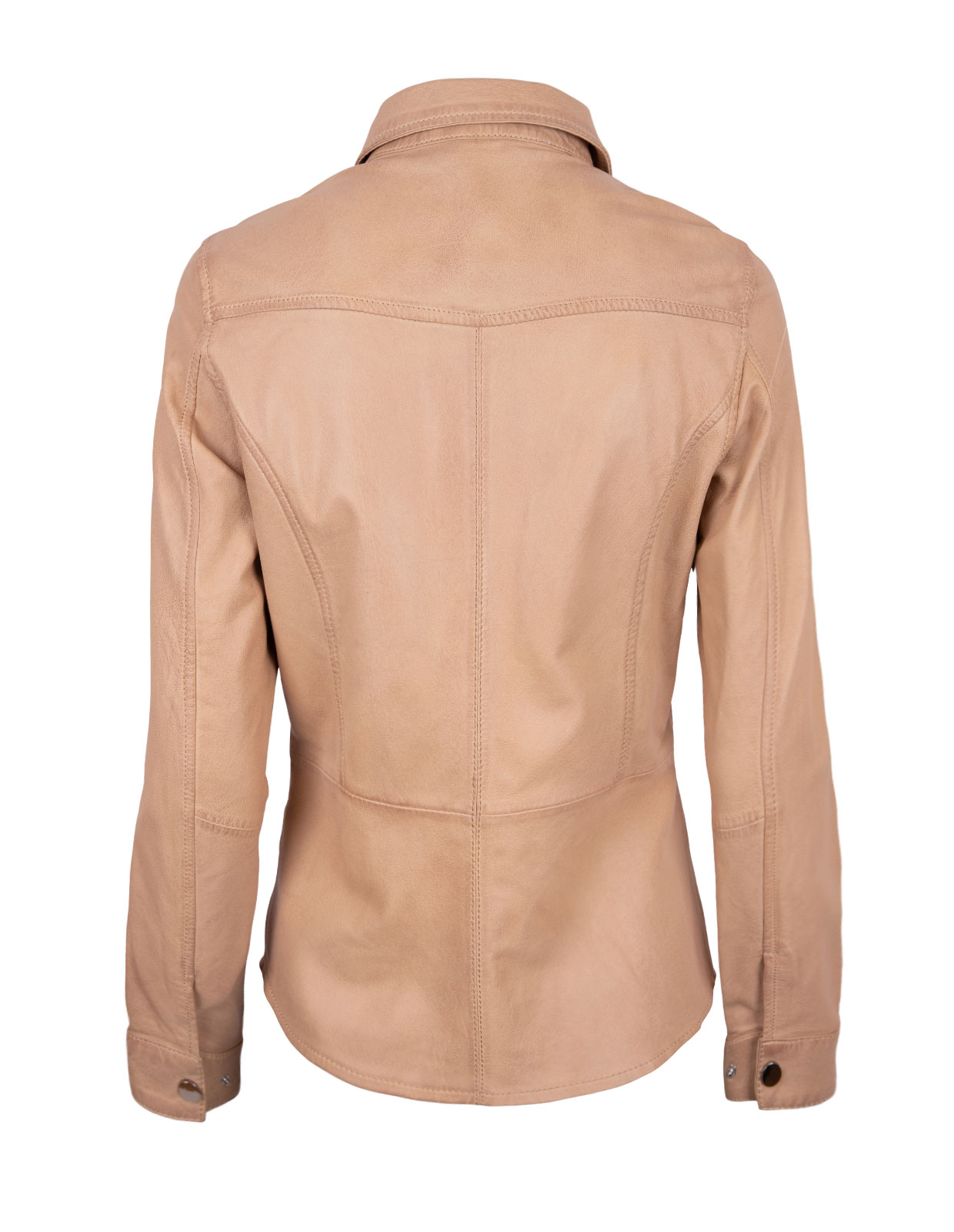 Penny Leather Shirt Latte