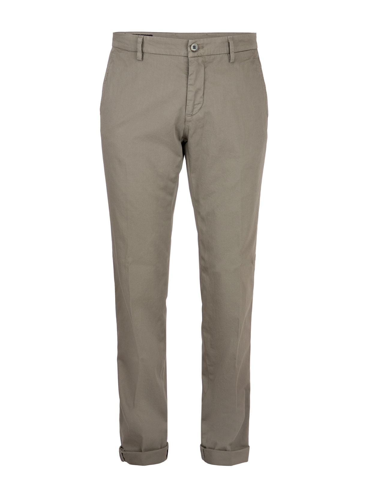 Milano Slim Chinos Satin Bomull Stretch Military