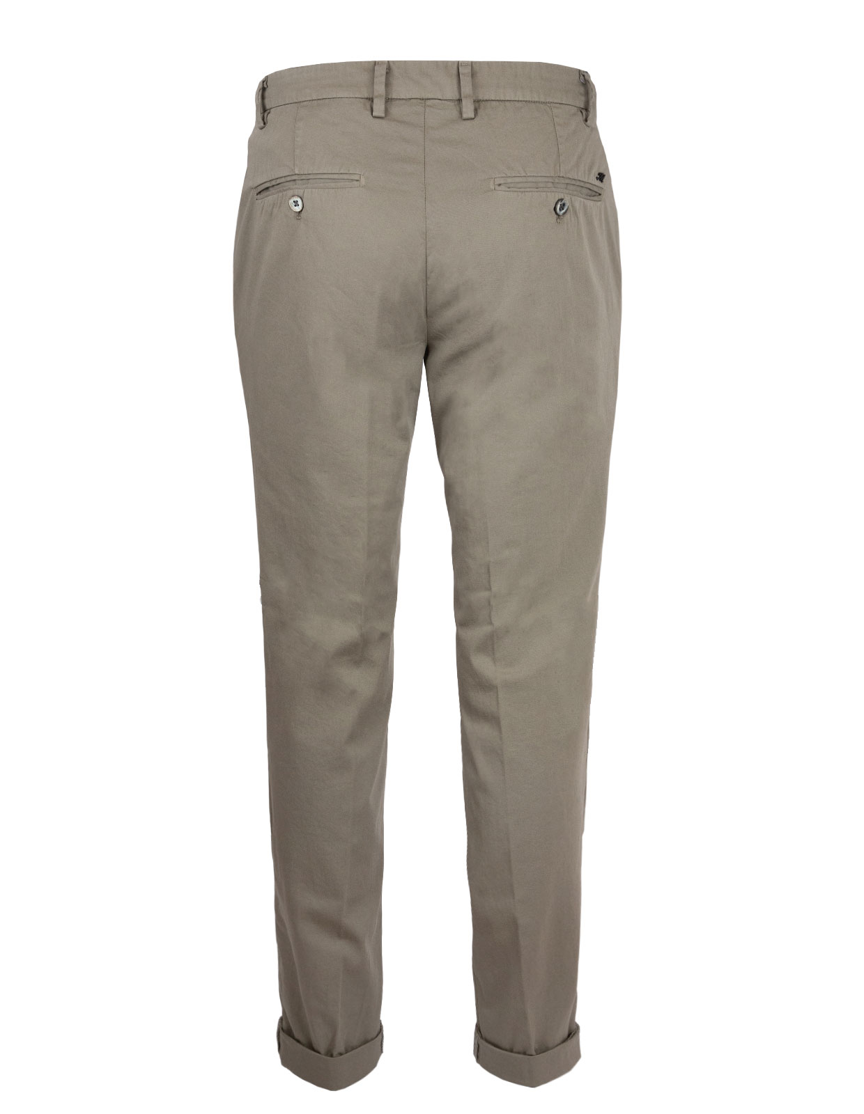 Milano Slim Chinos Cotton Satin Stretch Military