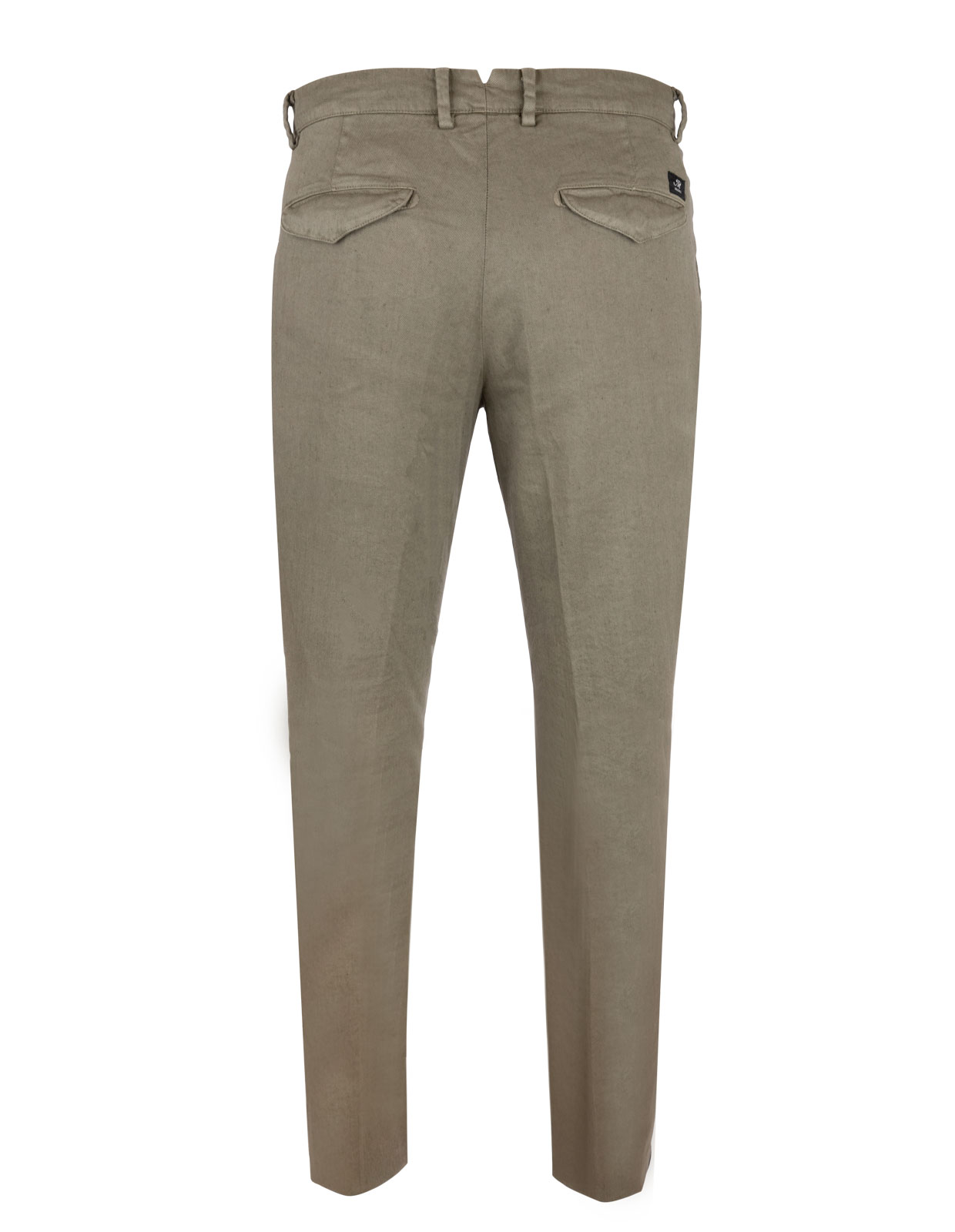 Amalfi Pleat Chinos Linen Cotton Stretch Military