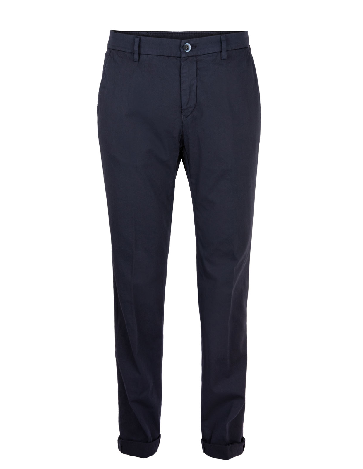 Milano Slim Chinos Satin Bomull Stretch Blue Navy