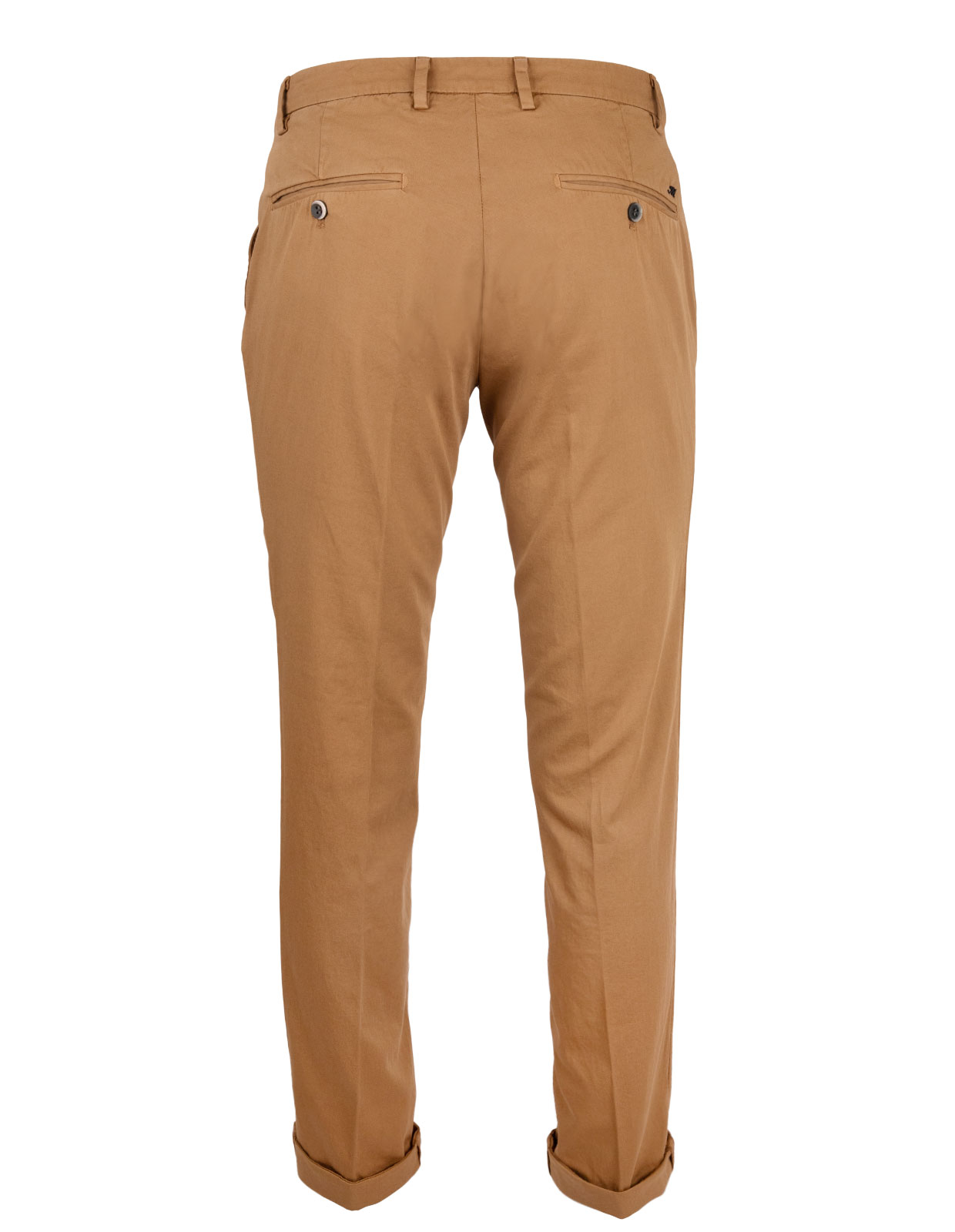 Milano Slim Chinos Cotton Satin Stretch Tobacco