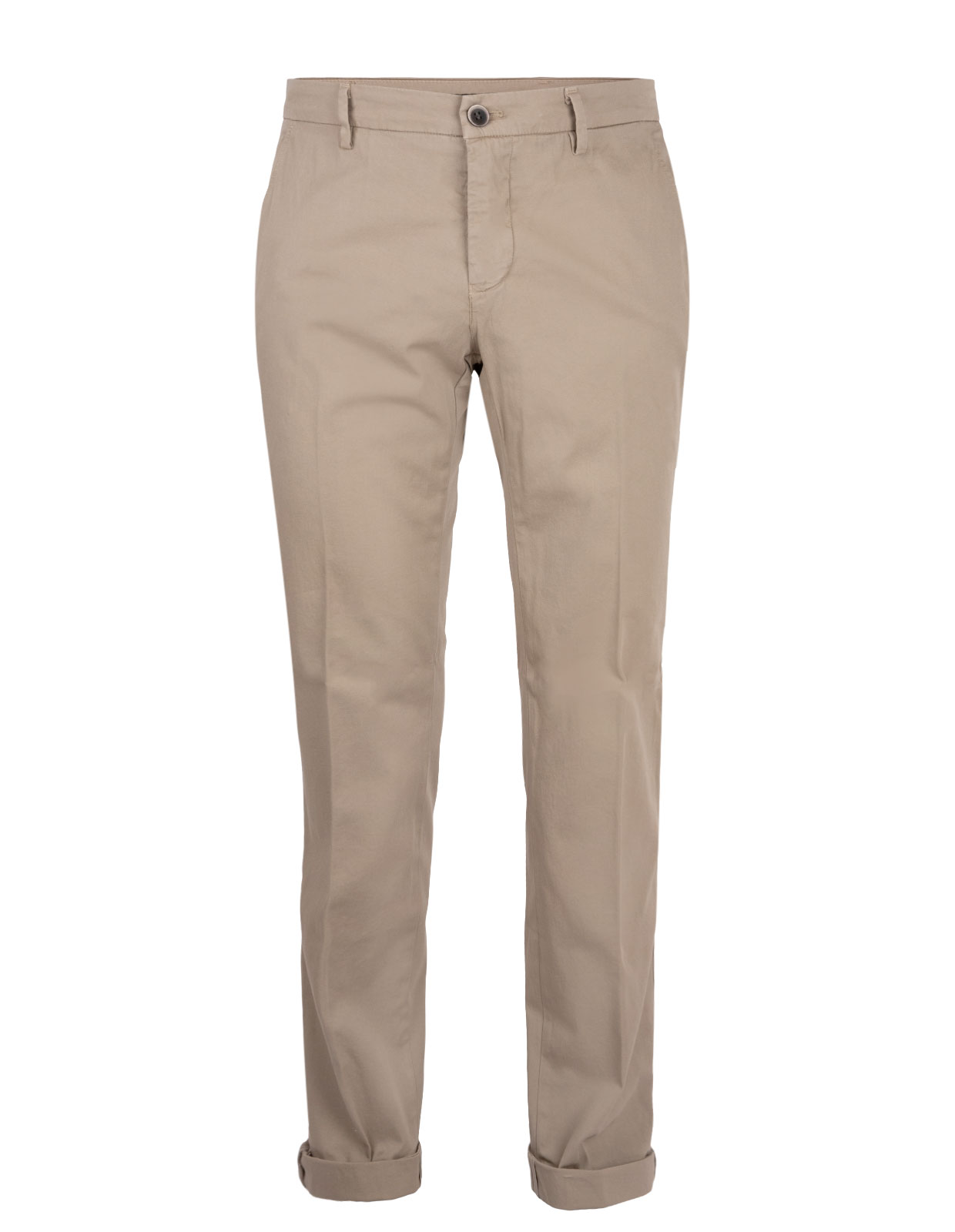 Milano Slim Chinos Satin Bomull Stretch Beige