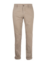 Milano Slim Chinos Cotton Satin Stretch Beige