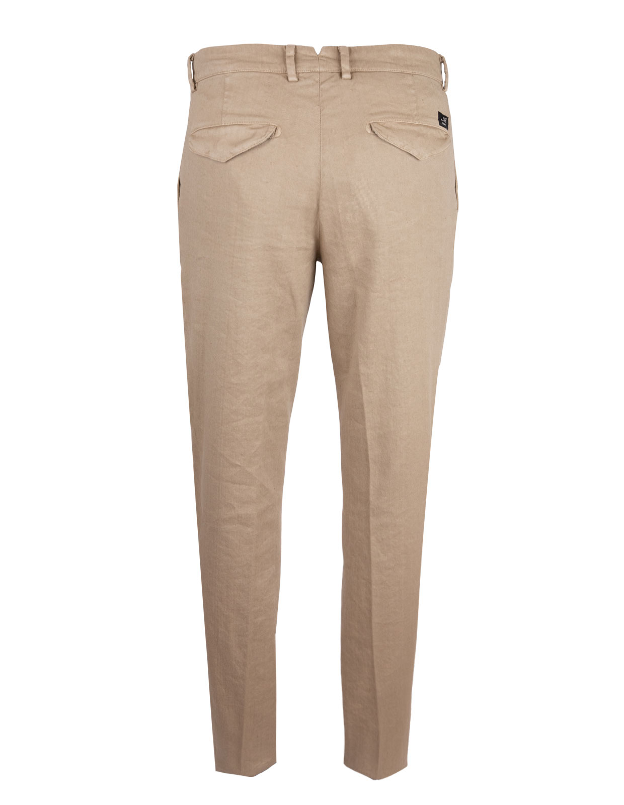 Amalfi Pleat Chinos Linen Cotton Stretch Beige