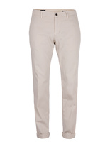 Milano Slim Chinos Cotton Satin Stretch Light Beige
