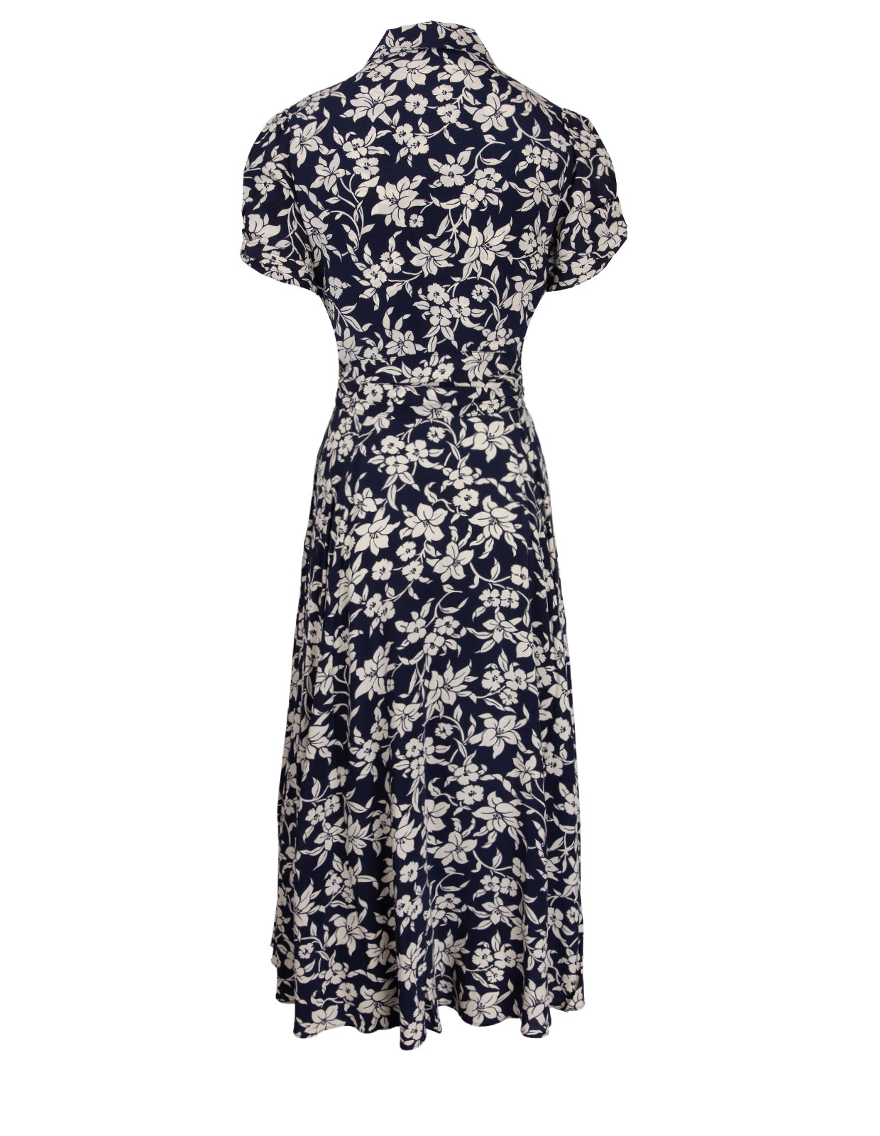 Floral Printed Dress Navy/Cream