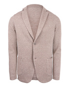 Knitted Linen Cotton Jersey Blazer Beige