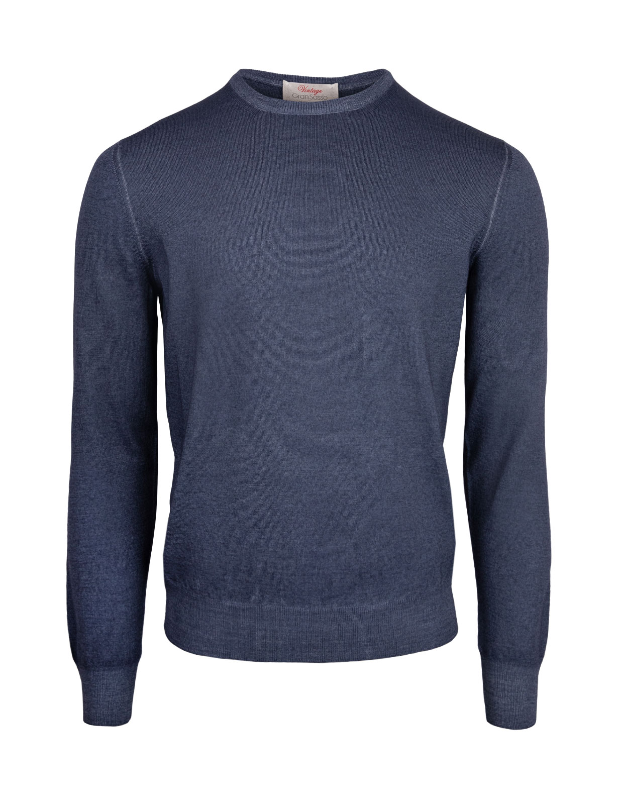 Crew Neck Vintage Summer Merino Ink Blue